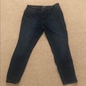 Loft Petite curvy skinny ankle jeans